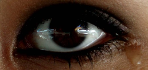 Eye with a tear