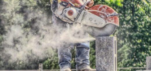 Construction Worker-Concrete Saw