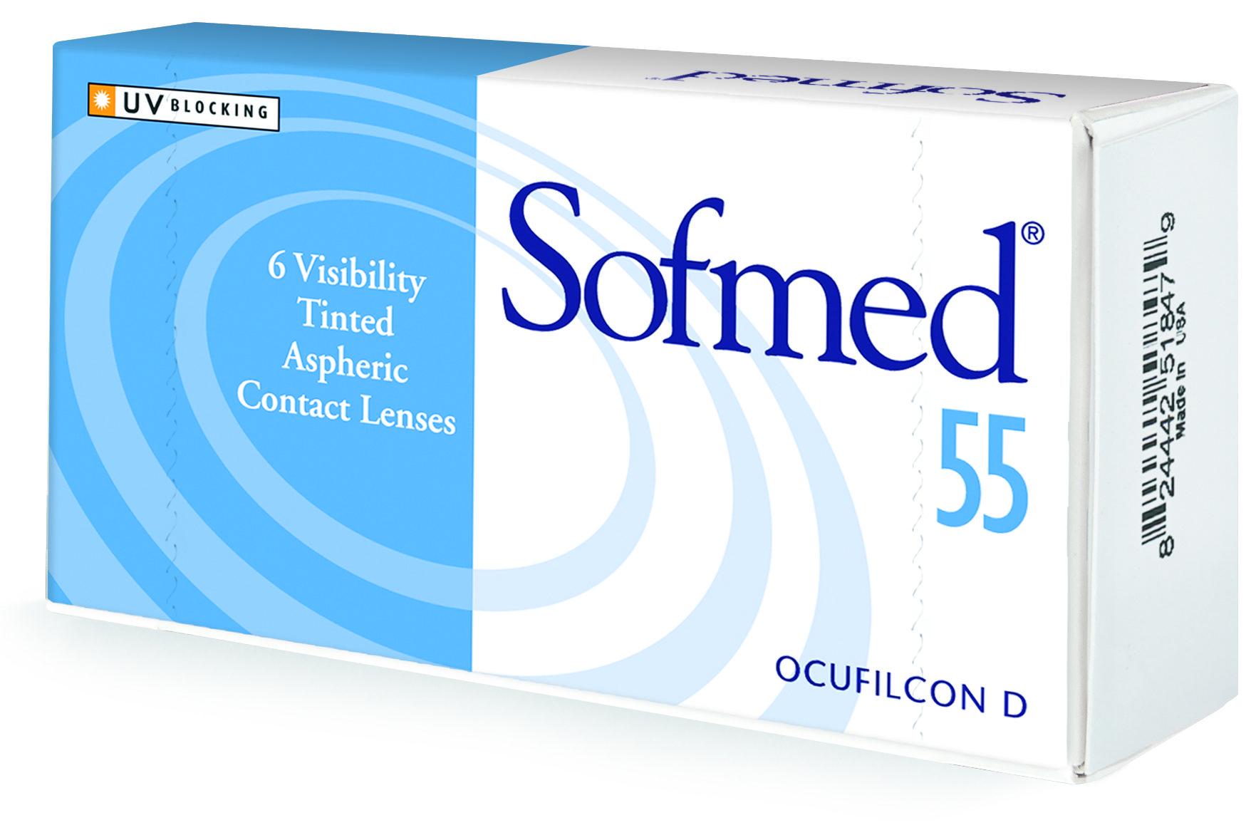 Sofmed 55 Contact Lens box