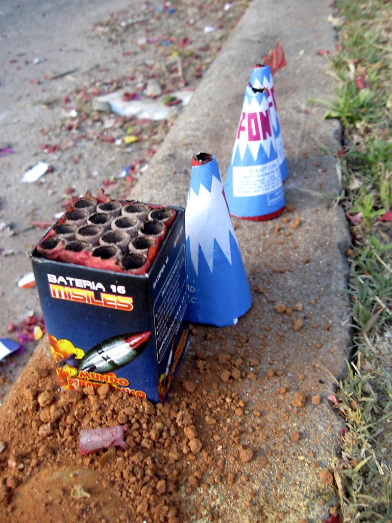 fireworks for July 4th celebration