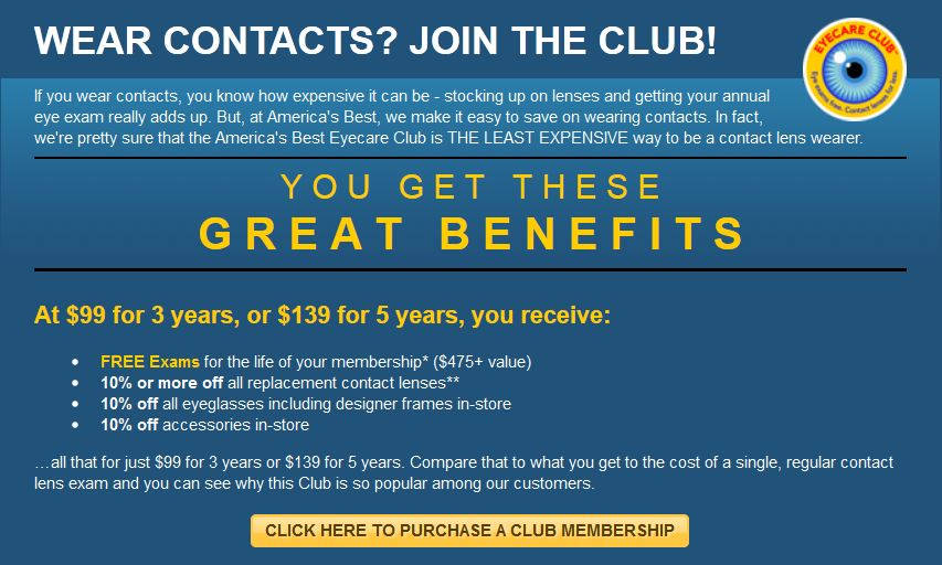 568bd2618c America s Best Eyecare Club. If you wear contact lenses ...